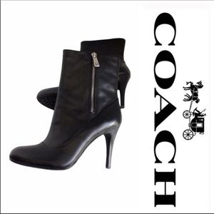 COACH Bethie Smooth Genuine Leather Bootie 9.5B Black
